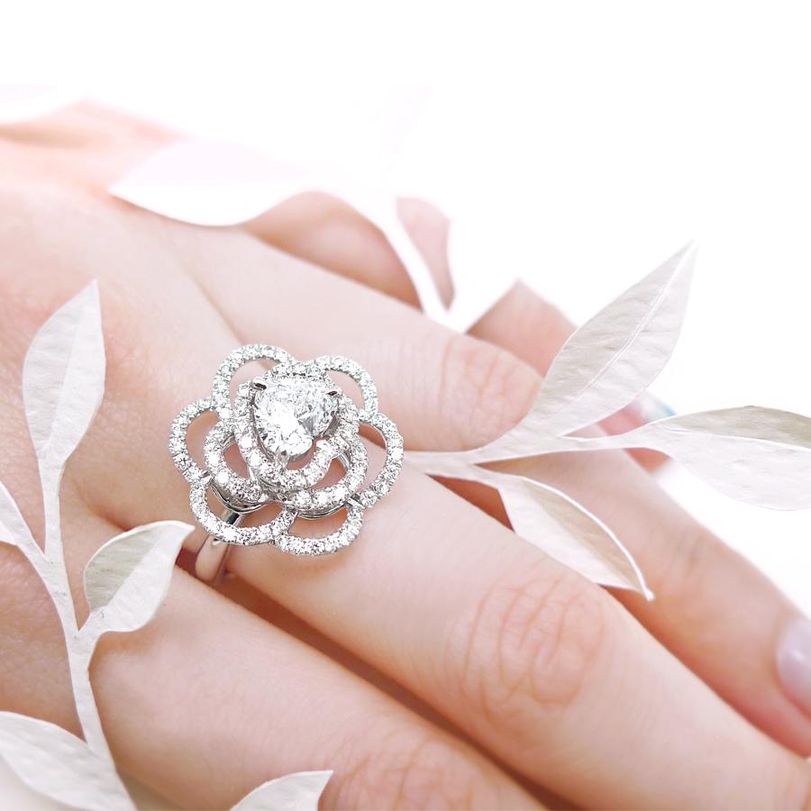 愛慕山茶花 鑽石戒指 / Camellia