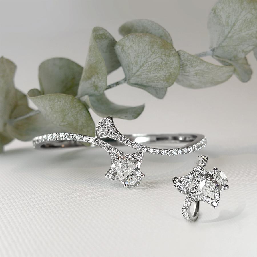 銀杏葉 鑽石手環 / Ginkgo