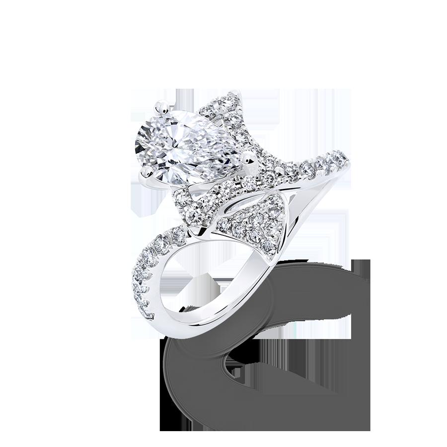 銀杏葉 鑽石戒指 / Ginkgo
