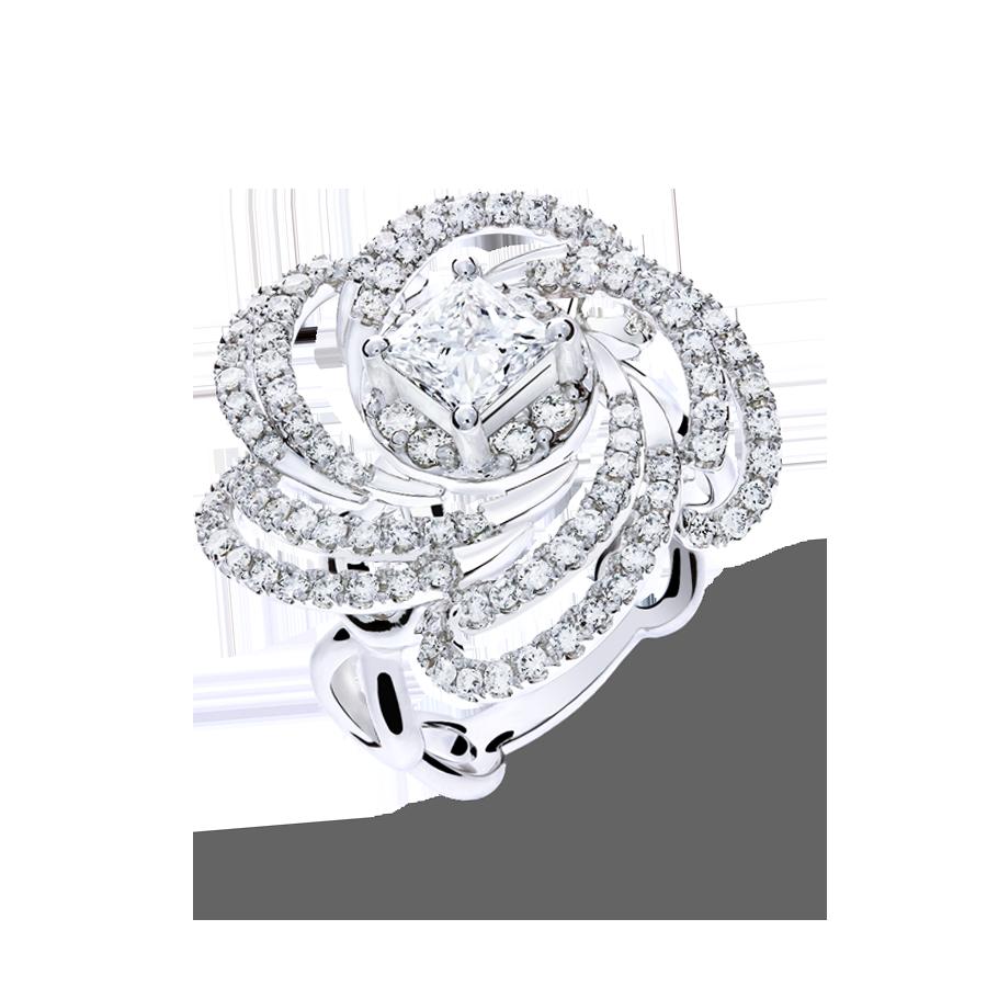 玫瑰夫人 鑽石戒指 / Ginkgo