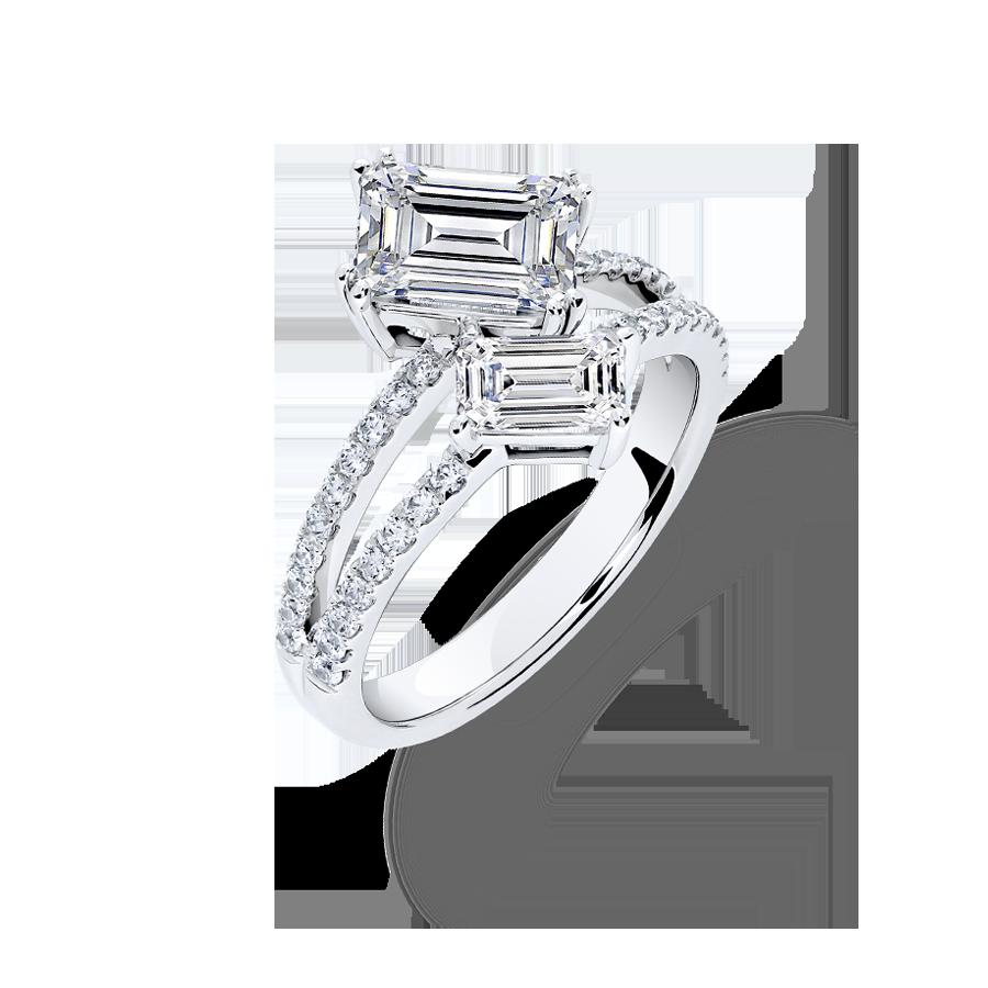 如影隨形 鑽石戒指 / Embrace Shadow - 2EM