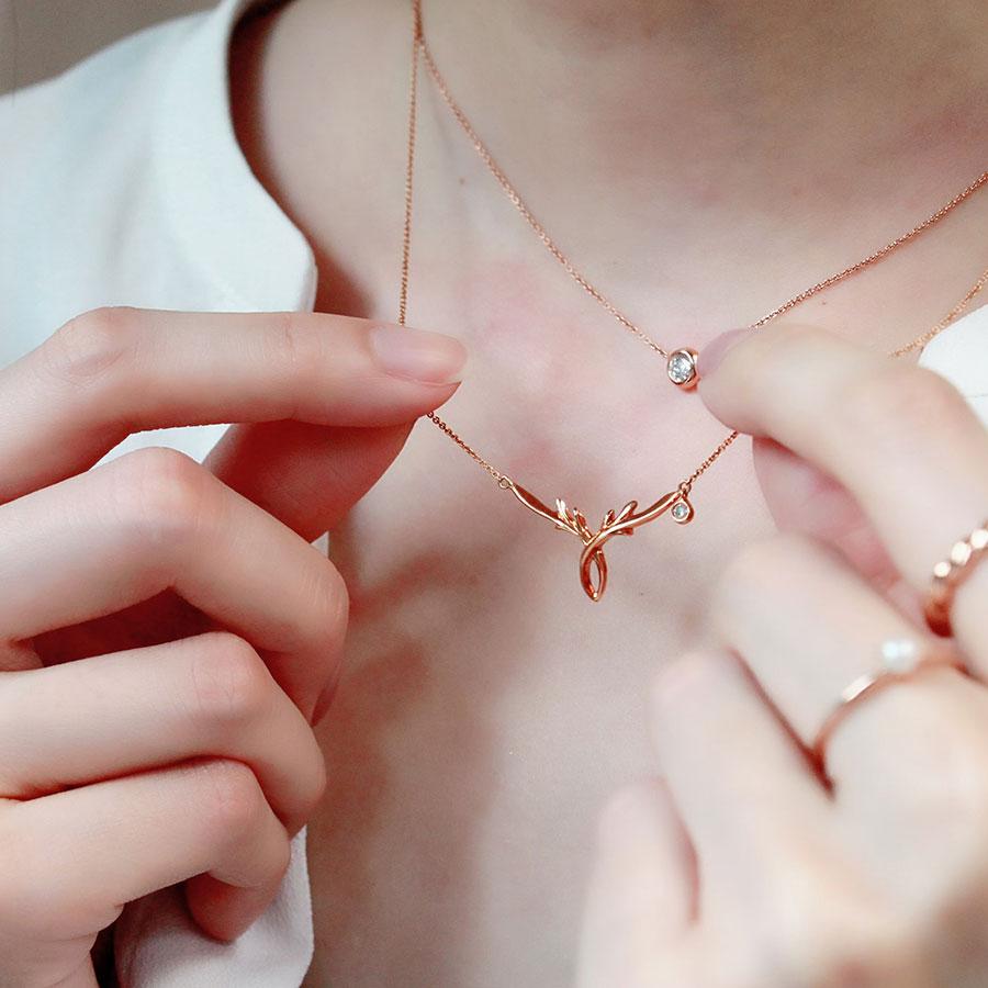 心鹿歷程 鑽石項鍊 / Course