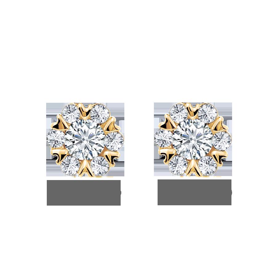 雪花 鑽石耳環 / Snowflake