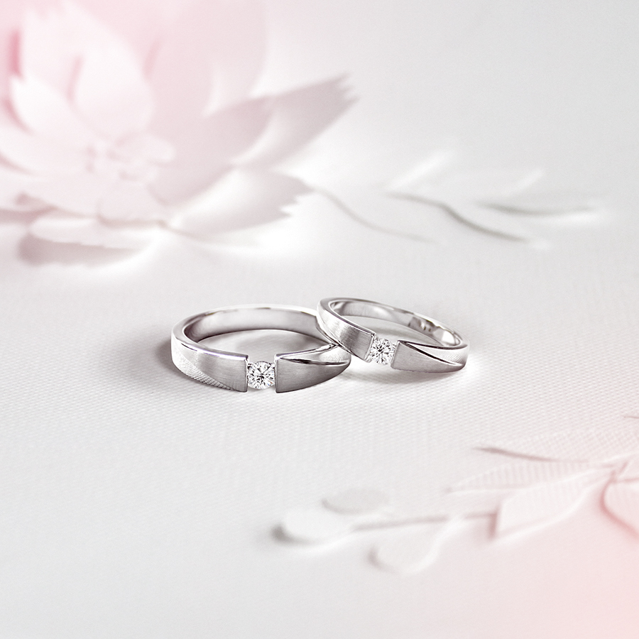 愛平行 - 鑽石對戒 /   Parallel