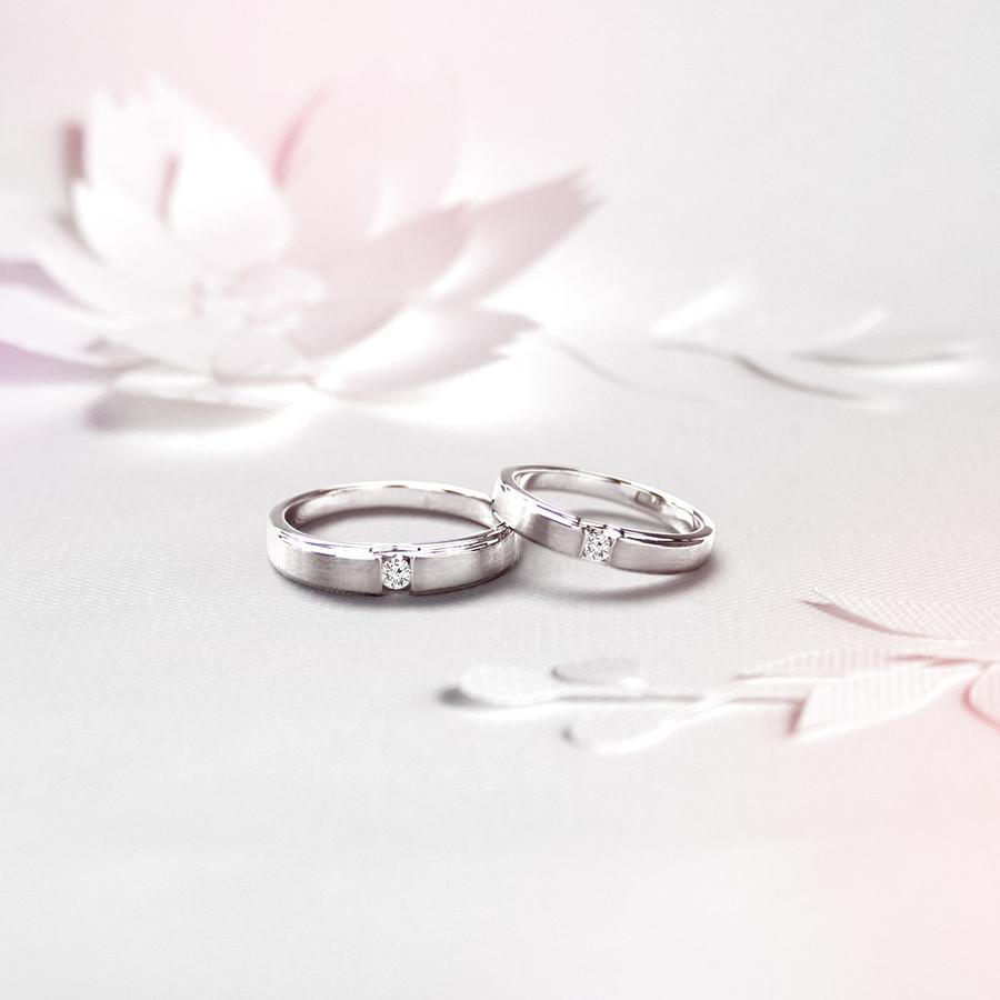 簡單愛 - 鑽石對戒(霧面) / Easy Love